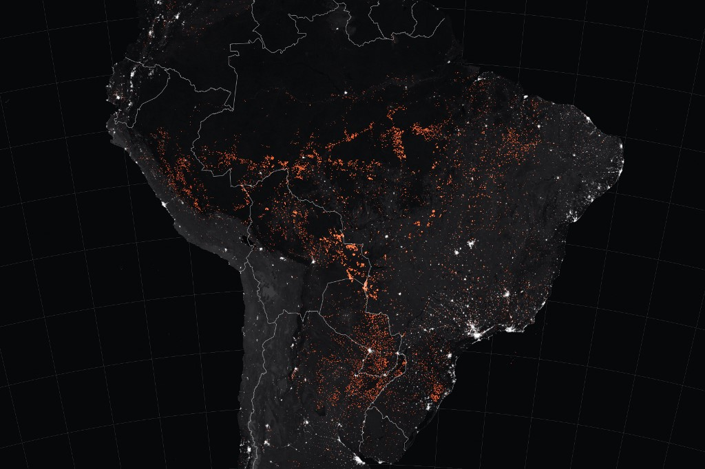 Imagen desde el espacio | AFP