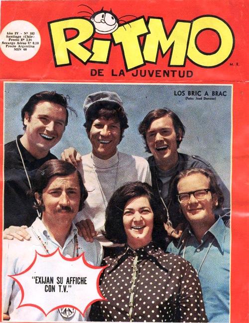 """Paz Undurraga con Los Bric a Brac en """"Ritmo""""."""
