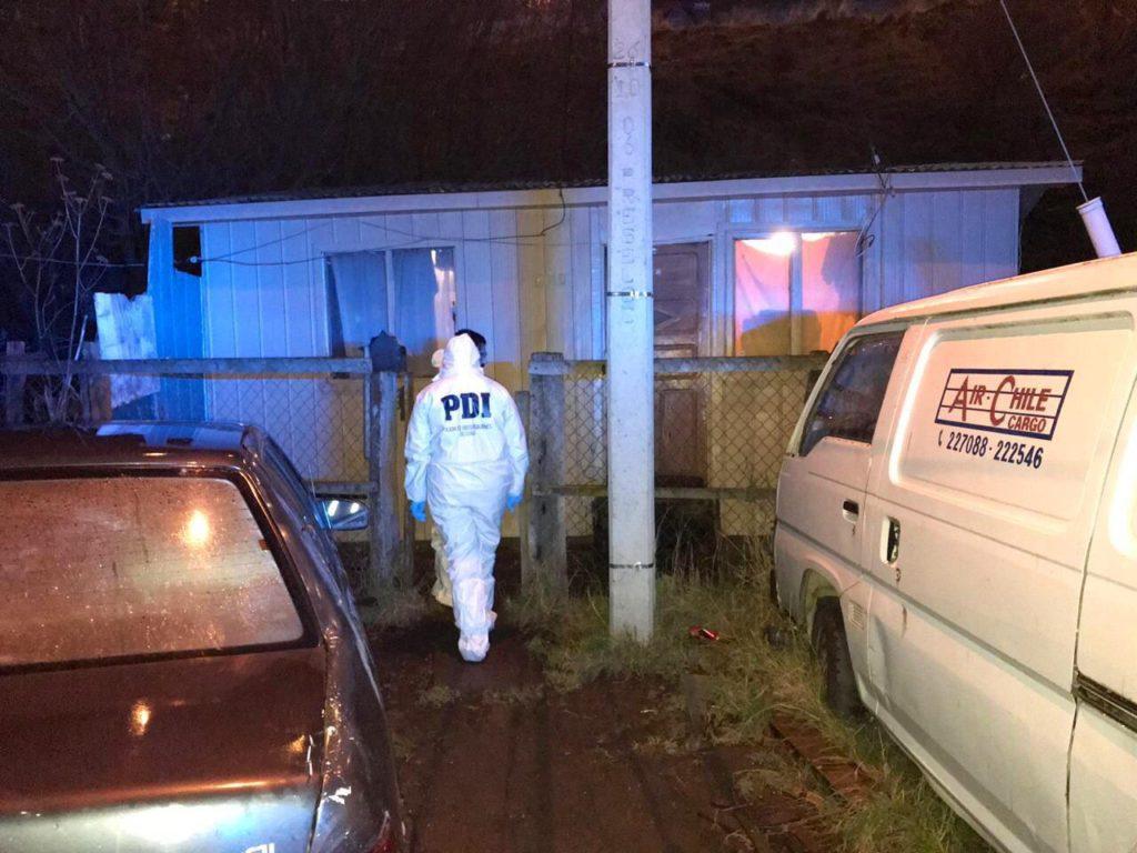 Casa donde ocurrió el crimen este fin de semana | PDI