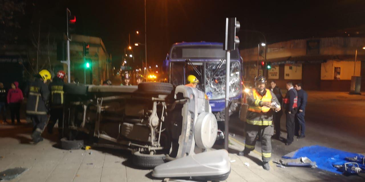 Accidente en Santiago Centro