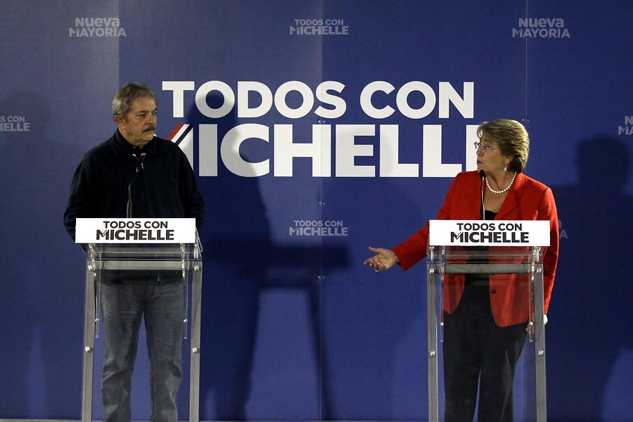 ARCHIVO 2013 | Visita de Lula a Chile para entregar su respaldo a Bachelet en segunda campaña presidencial.