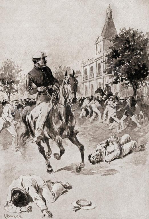Ilustración del incidente ocurrido en Valparaíso (CC) Wikimedia Commons