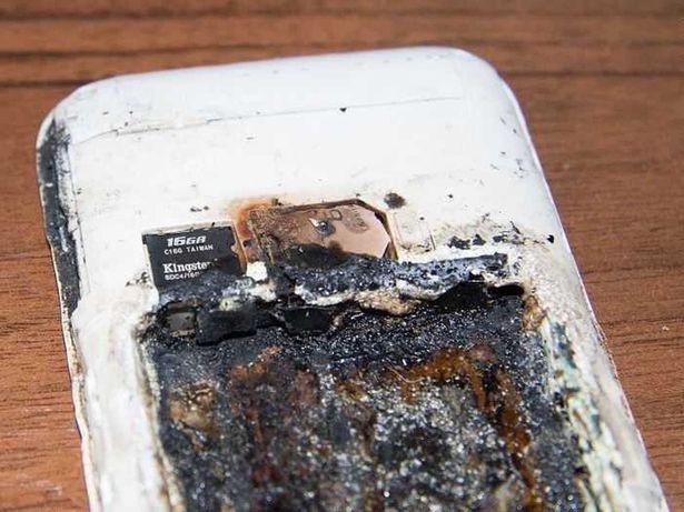 Celular que explotó al cargarse | imagen referencial | CNN