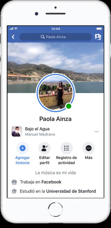 Música en el Perfil de Facebook