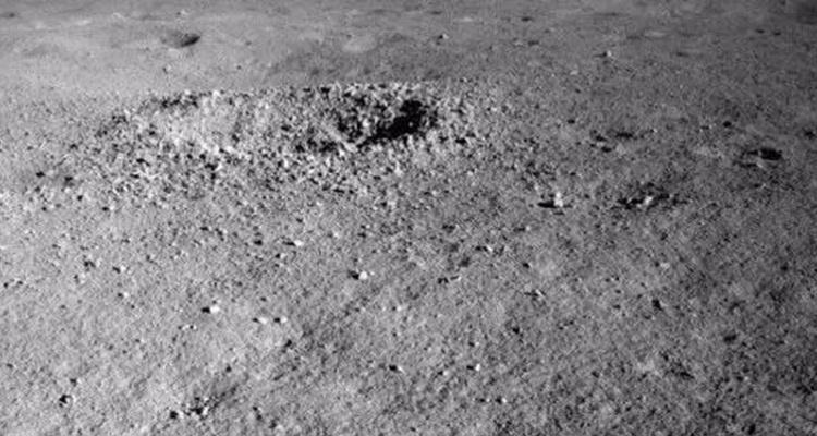 Cráter dentro del cual se detectó la sustancia | CNSA