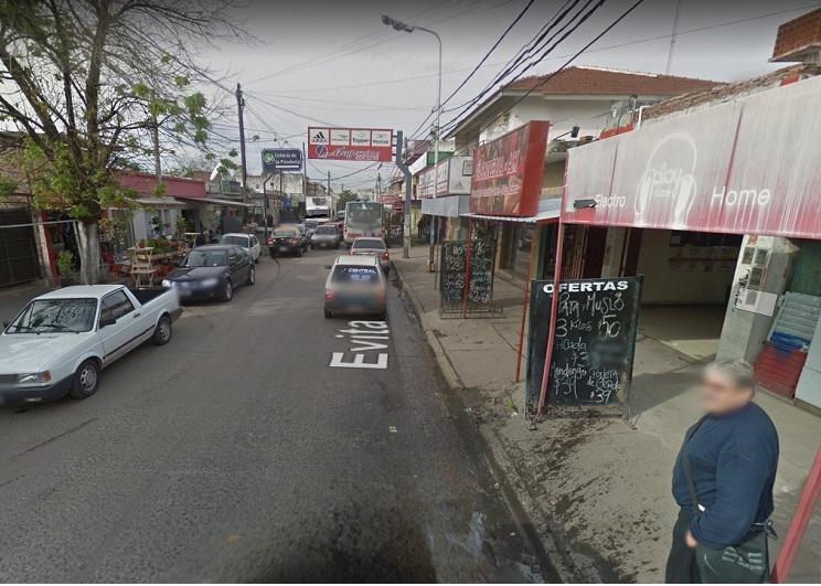 Calle donde habría ocurrido el asalto a los repartidores