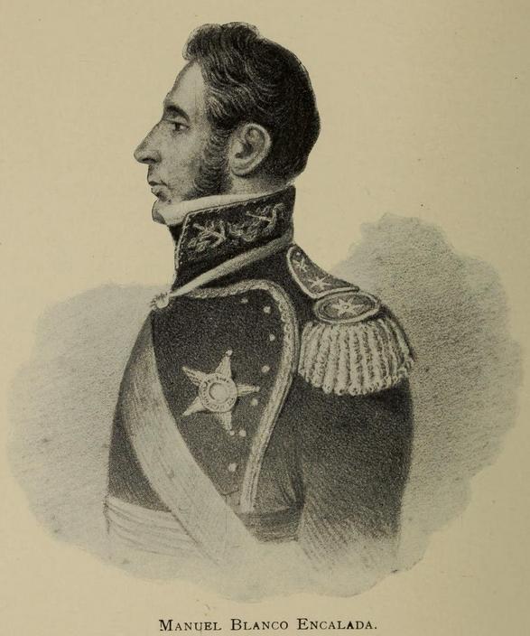 """Retrato de Manuel Blanco Encalada, sacado del libro """"Historia de Chile"""" de Anson Uriel Hancock (CC) Wikimedia Commons"""