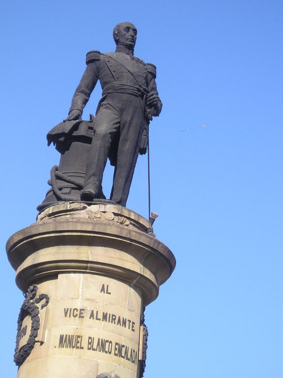 Monumento a Blanco Encalada en Valparaíso (CC) Wikimedia Commons