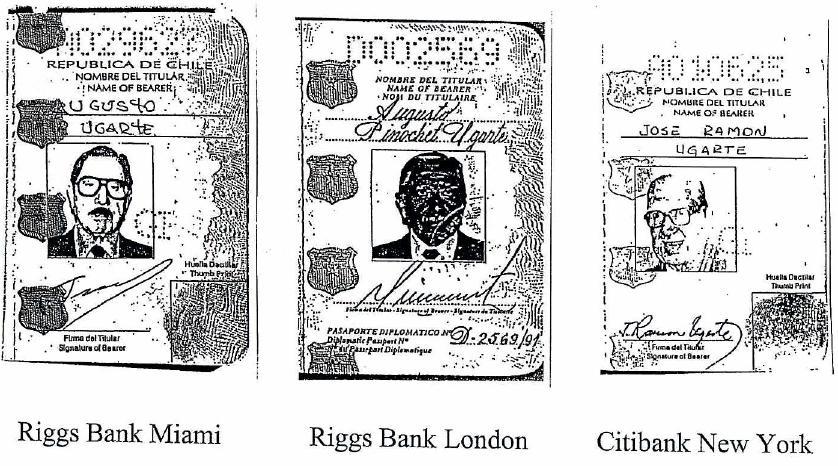 Pasaportes falsos de Pinochet