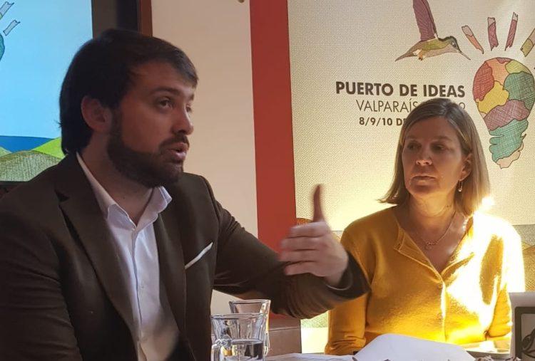 Jorge Sharp y Chantal Signorio en lanzamiento | Cedida