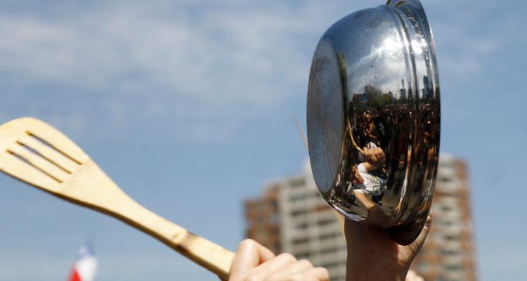 Manifestación pacifica en Manquehue | Mario Davila | Agencia Uno