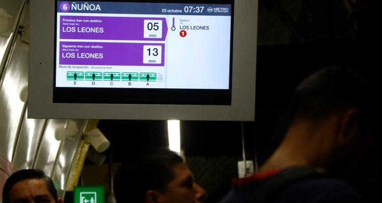 Estación Ñuñoa de Linea 3 de Metro | Mario Dávila | Agencia Uno