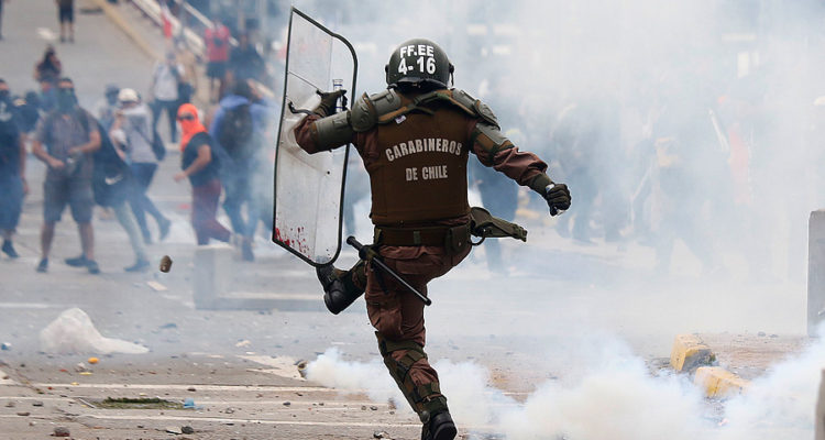Efectivo de Fuerzas Especiales de Carabineros   Leonardo Rubilar   Agencia Uno