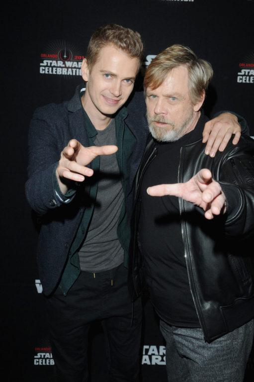 Hayden Christensen y Mark Hamill (Luke Skywalker) | Star Wars