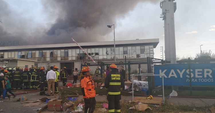 Incendio en Kayser