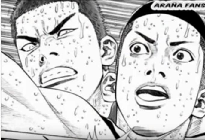 Sakuragi contra Eiji | Manga Slam Dunk