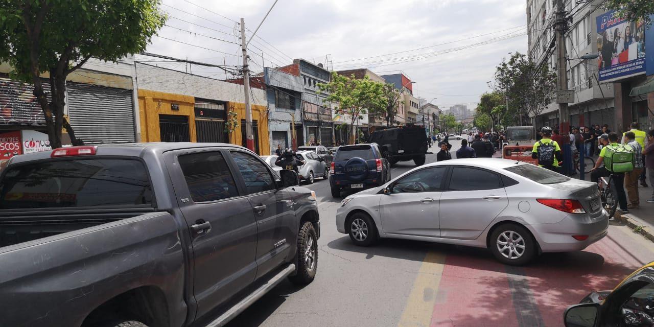 Operativo de la PDi en el centro de Santiago por delito de secuestro