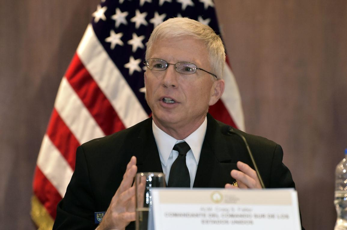Craig Faller, jefe del Comando Sur /  AFP