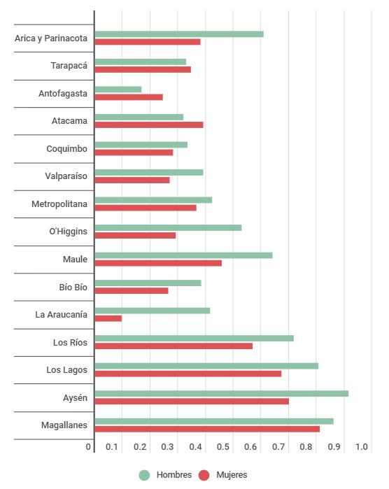 Brecha de Género en Actividad Económica | Irede 2019