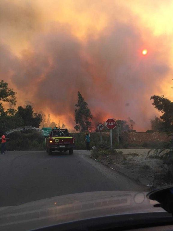Incendio Sector Esval, Placilla | RBB Valparaíso