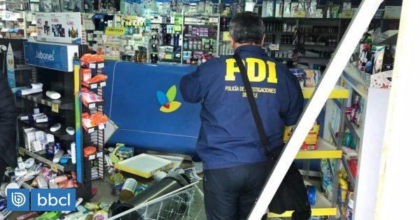 PDI indaga alunizaje en farmacia de Puerto Montt: delincuentes sustrajeron caja fuerte - BioBioChile