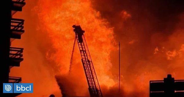 Bomberos piden una mayor escala telescópica en Osorno tras incendio en edificio de 20 pisos - BioBioChile