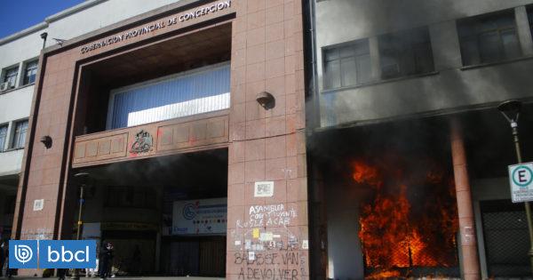 Imputado por quema de Gobernación de Concepción enfrentará querella por Ley de Seguridad del Estado - BioBioChile