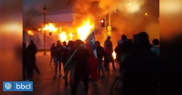 Incendio consumió AFP Habitat de Punta Arenas - BioBioChile