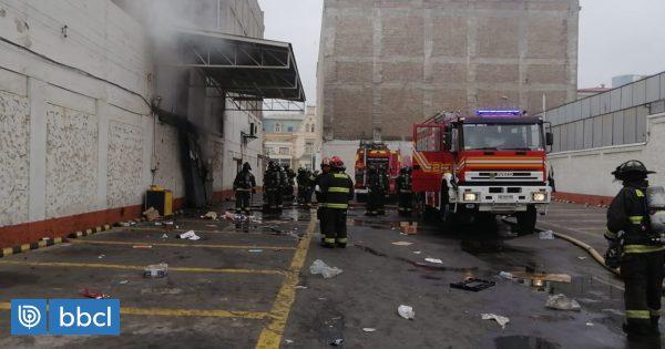Incendian bodega de supermercado Santa Isabel en Viña del Mar - BioBioChile