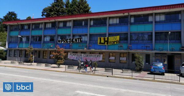 Toma en Liceo de Hombres de Puerto Montt: docentes señalan que el DAEM perdió $3 mil millones - BioBioChile