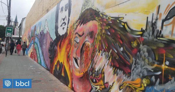 Víctor Jara, perro Matapacos y demandas sociales: mural en Valdivia plasma las protestas del país - BioBioChile