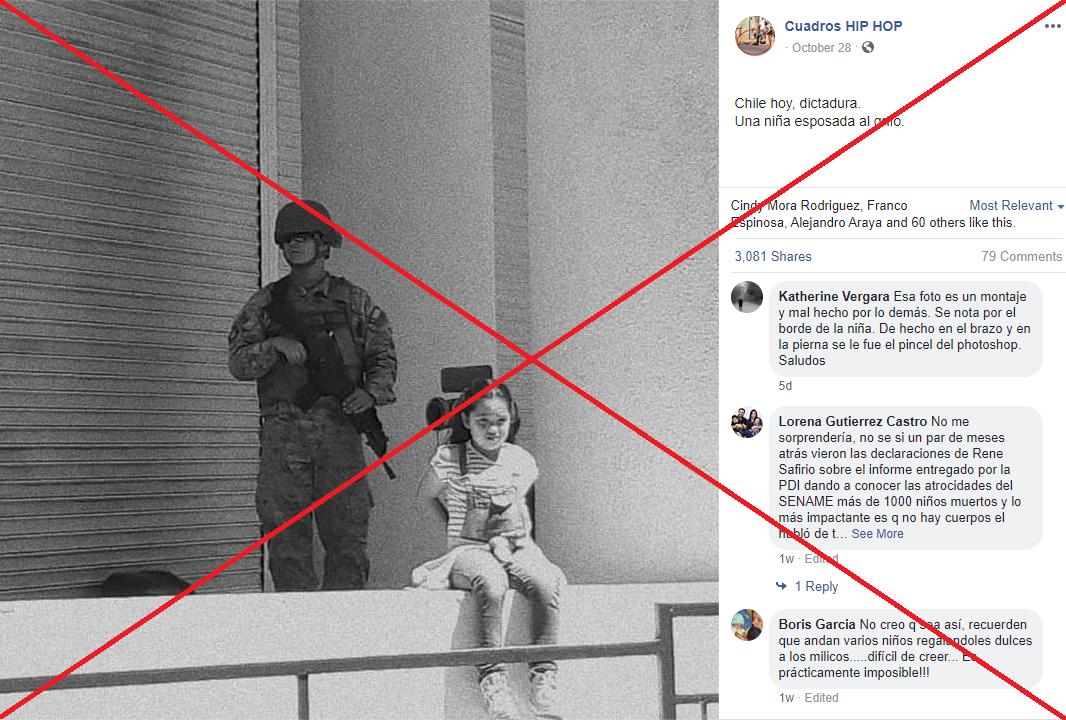 Captura de pantalla del 5 de noviembre de 2019 de una publicación en Facebook