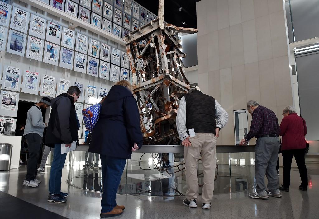 Antena de TV que alguna vez estuvo encima de la torre norte del World Trade Center, antes del 9/11 | AFP