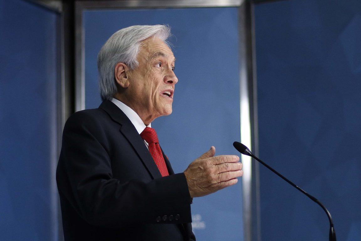 19 de Octubre de 2019   El presidente de la Republica Sebastián Piñera, habla tras la reunión que sostuvo con el ministro del Interior y el de Defensa, y decreta el estado de emergencia   Agencia UNO