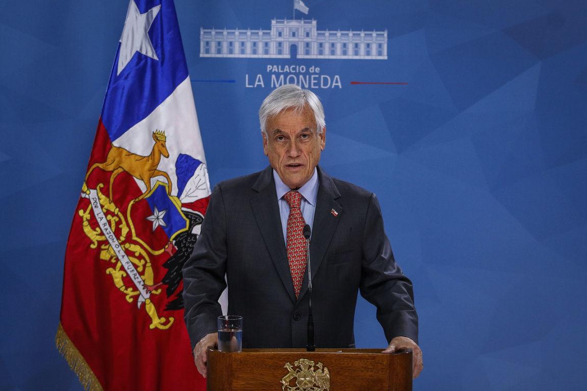 19 de octubre de 2019   El presidente de la Republica, Sebastian Piñera, frena el alza del pasaje del Metro   Agencia UNO