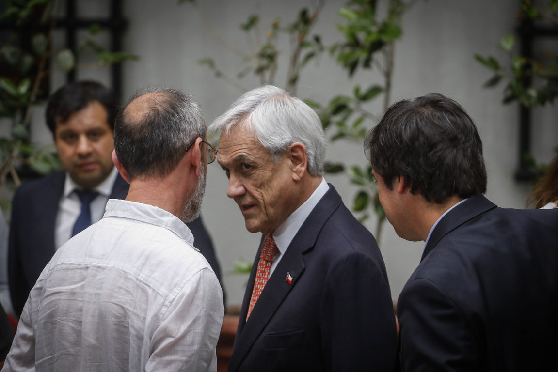 5 de Noviembre de 2019   El presidente de la Republica, Sebastián Piñera, habla tras reunirse con las PYME   Agencia UNO