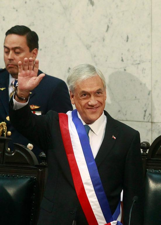 11 de Marzo de 2018   Sebastian Piñera asume como presidente de la Republica, durante la ceremonia del cambio de mando presidencial 2018 en el Congreso Nacional de Valparaíso   Agencia UNO