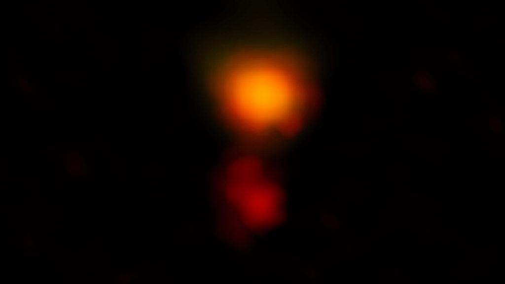 Imagen de radio de ALMA de la polvorienta galaxia de formación estelar llamada MAMBO-9 | ALMA