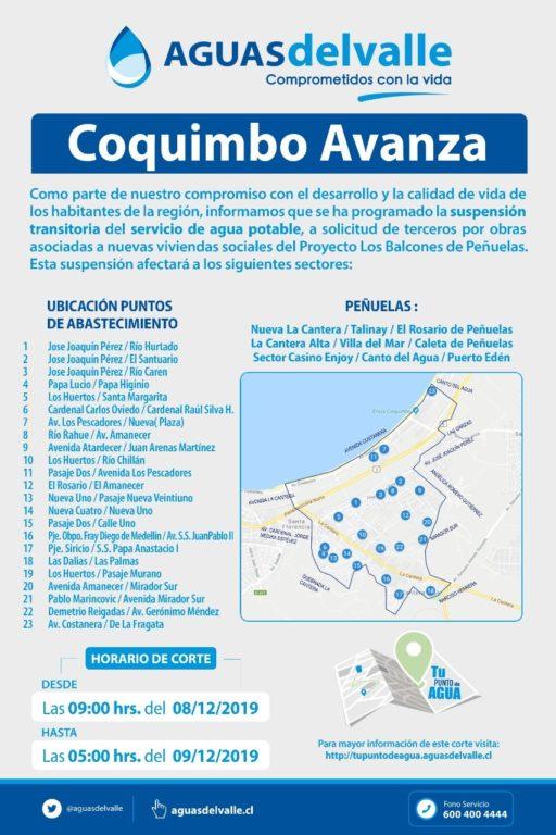 Corte de agua en Coquimbo