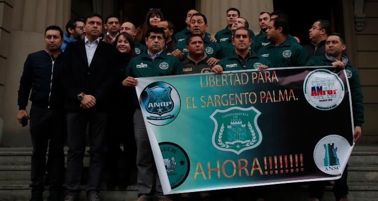 Manifestación de Gendarmería