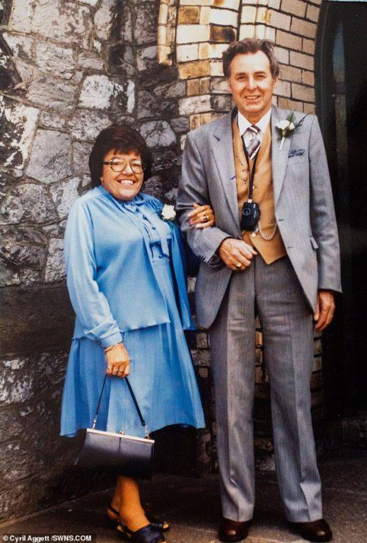 Cyril Aggett y su esposa Shirley en su juventud