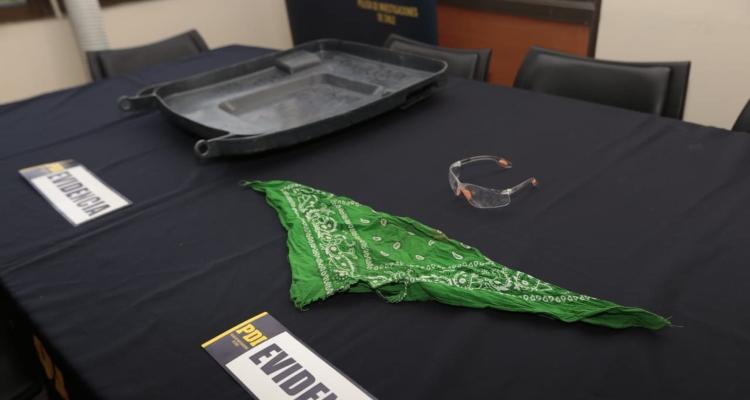 Elementos de detenido por homicidio frustrado a carabinero en servicio