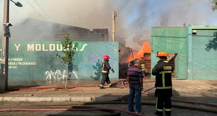 Incendio en Santiago