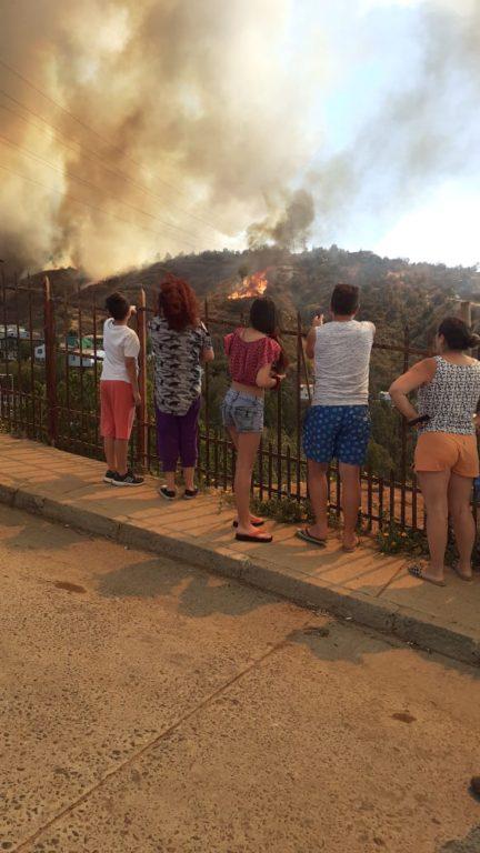 Cedida a RBB | Incendio desde el Cerro San Roque