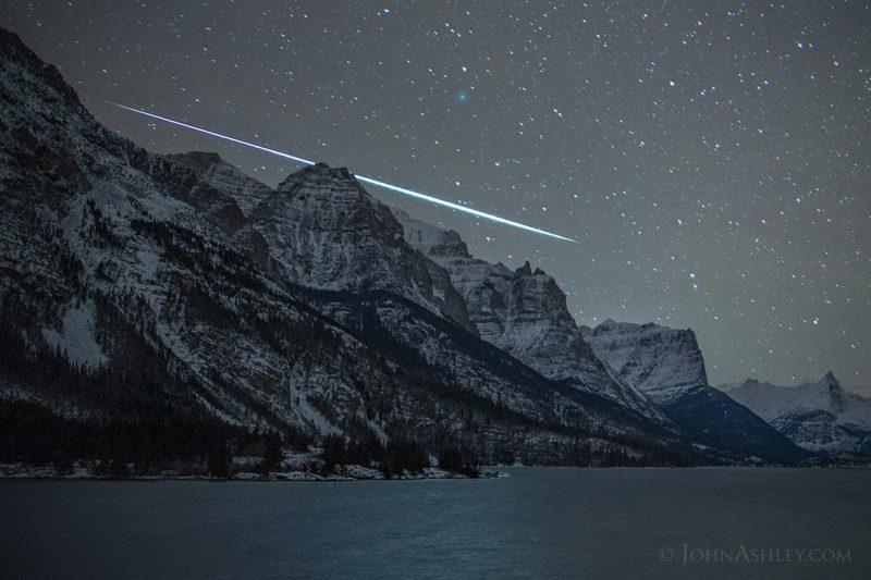 Imagen tomada por John Ashley en el Glacier National Park, Montana, el 6 de diciembre de 2018 | Earthsky