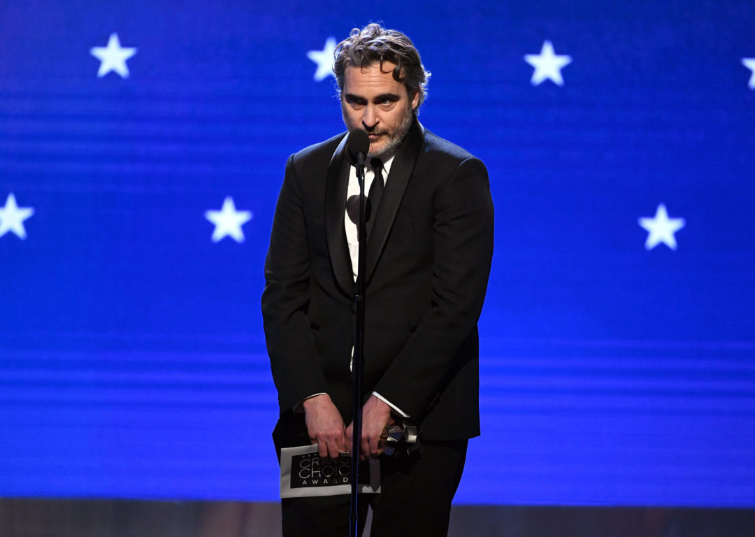 Joaquin Phoenix durante los Critics' Choice Awards 2020 | Agence France-Presse