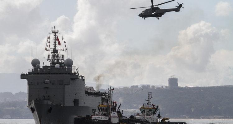 Buque Sargento Aldea recala en Valparaiso con 56 efectivos que se encontraban participando en la Operación de Paz de Naciones Unidas de Haití | Yvo Salinas | Agencia Uno