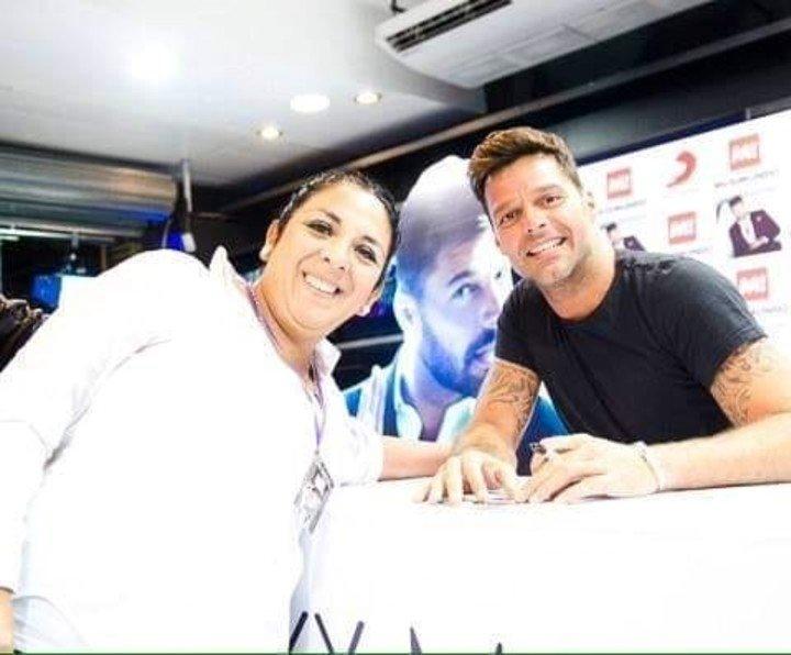 Lorena Cáceres y Ricky Martin en 2015