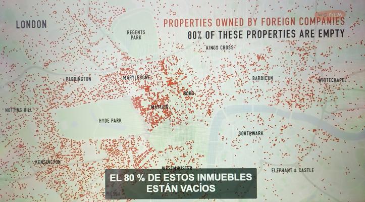 Plano de Londres indicando propiedades de corporaciones extranjeras, Push (c)