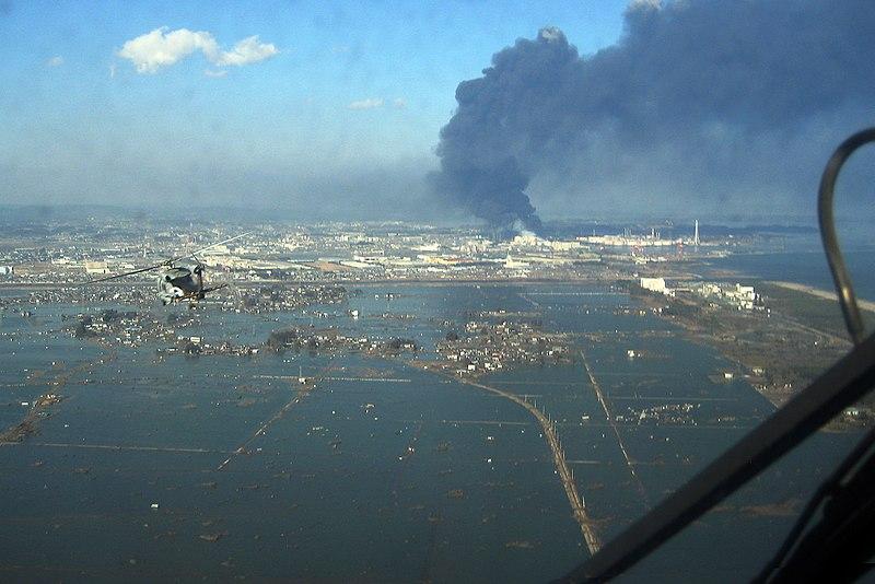 Vista aérea de sendai tras el terremoto y maremoto de 2011 (CC) Wikimedia Commons